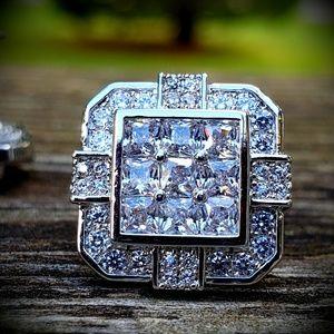Iced Out Lab Diamond Brickhouse Earrings